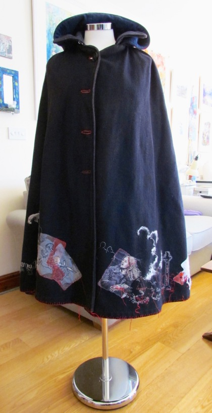 Eileen Harrisson Nurse's cape on new tailor's dummy low res June 2019
