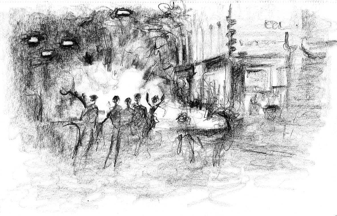street violence drawing low res